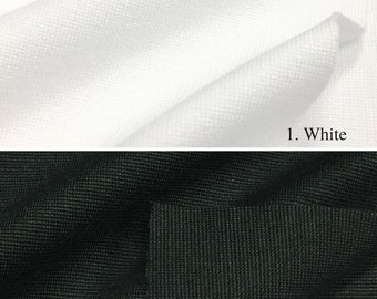 Ponte de Roma Stretchy Knit Fabric By The Yard (Wholesale Price Available By The Bolt) USA Made Premium Quality - 7280R- 1 Yard