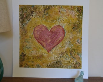 """Contemporary Art, Heart Painting, Giclee Prints: Signed and  Numbered, Limited Edition Print, Heart Painting. """"A Promise"""" by CB Burroughs"""