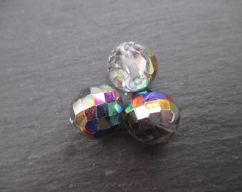 Faceted Bohemian 14 mm: crystal vitrail medium beads 3