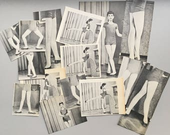 Ballerina Vintage Clippings, Embellishments, Vintage Paper, 1950's, Free Shipping