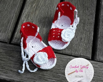 Sandals, sandals to crochet for baby girl