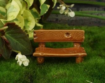 Bench - Ceramic: Fairy garden, miniature garden, fairy garden accessories, park bench