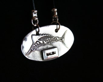 "Sailfish with""Malibu"" across the bottom .999FS"