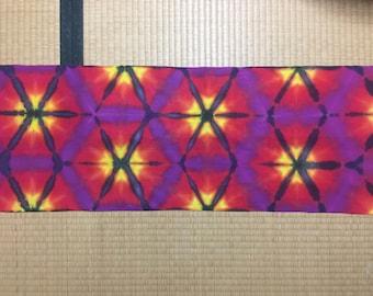 Tie Dye Tenugui (35x90cm)/ Colorful tie dye headband, wall art, decoration, gift wrap, etc. Lovingly made by hand