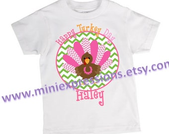 Happy Turkey Day Personalized Thanksgiving  shirt