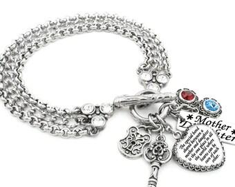 Mother Daughter Bracelet, Mom Birthday Gift, Daughter's Gift, Daughter Quote Bracelet, Daughter Jewelry, Daughter Charm Bracelet