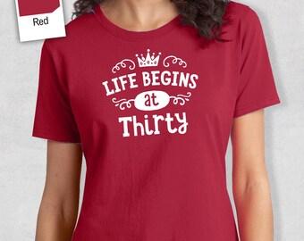 30th Birthday, 30th Birthday Idea, Great 30th Birthday Present, 30th Birthday Gift. 1987 Birthday, 30th Birthday Shirt, Women's Crew Neck!