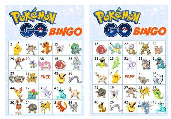 40 printable pokemon go bingo cards prefilled pokemon clip solutioingenieria Gallery