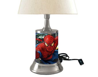 Spider-Man Lamp with shade, the Amazing Spider-Man