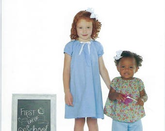 Children's Corner Sewing Pattern #283 / JANE / Sizes 1 - 3 and 4 - 6