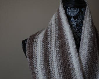 Super soft tan scarf and infinity scarf