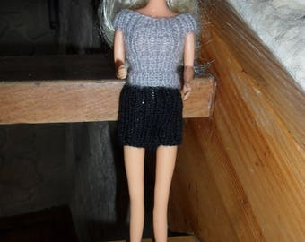 overall sweater and shorts for barbie