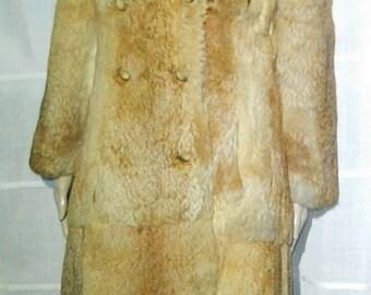Double rabbit fur coat size 36/38