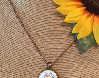 25mm You Are My Sunshine Glass Dome Pendant Necklace