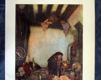DULAC. 1975 Vintage fantasy/fairy tale art book
