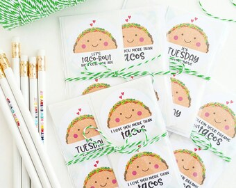 kawaii taco stickers packaging supplies