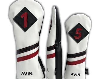 Personalized Leather Golf Headcovers (Design-Your-Own)