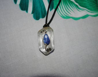 Lapis crystal quartz necklace