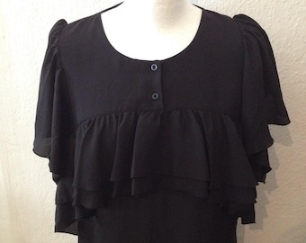 Small of black with Ruffles