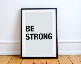 Be Strong Printable