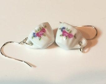 Marianne Mini Porcelain Tea Cup (teacup) Earrings