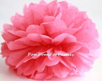 1 High Quality WATERMELLON Tissue Pom Pom - Choose any of 50 colours - Hanging  Paper flower - Tissue paper balls - Tissue paper pom poms