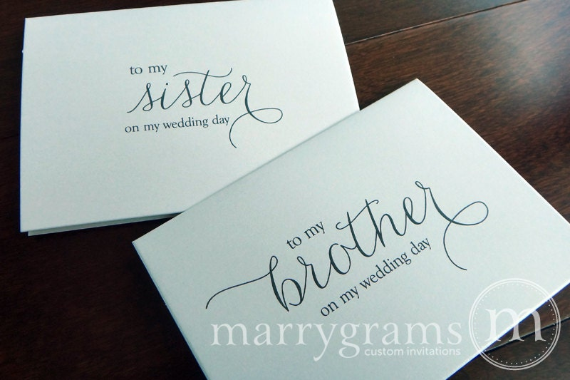 Wedding Card To Your Brother Or Sister Siblings Of The