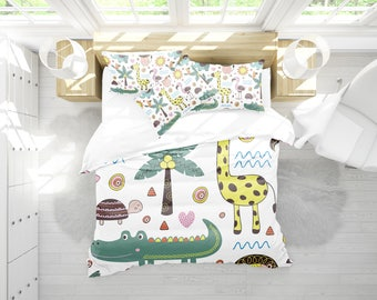 baby animal bedding , animal bedding , zoo animals , bedding , crib bedding , animal print , baby bedding , toddler bedding , kids bedding