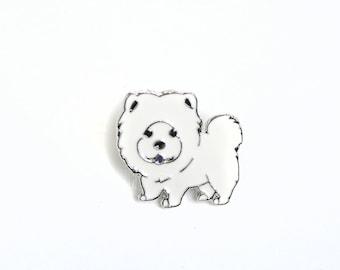 Pomeranian enamel pin, lapel pin, enamel pin, pet lapel pin,dog enamel badge, dog enamel pin, cute dog lapel pin, Pomeranian