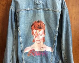 Handpainted David Bowie Jacket