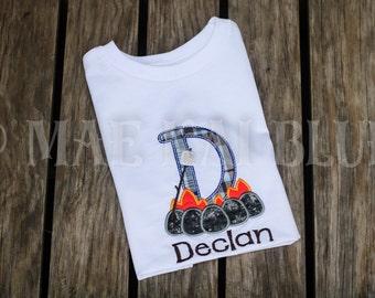Campfire Cutie Personalized Monogram Appliqué Embroidered Shirt
