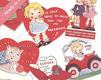 Valentine's Day Vintage Cards Clip Art SALE