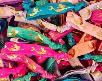 Mermaids, Mermaid Party, Hair Ties, Bulk Hair Ties, Mermaid, Mermaid Birthday, Mermaids, Birthday Party Favors, Mermaid Birthday Party