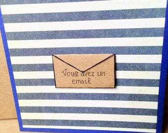 Handmade for any occasion card Navy