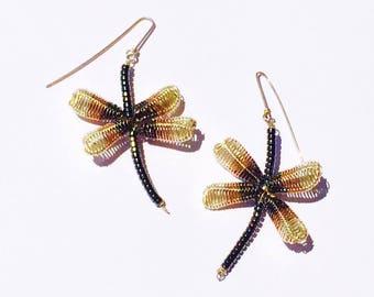 Butterflies earrings from Santorini's lava colors