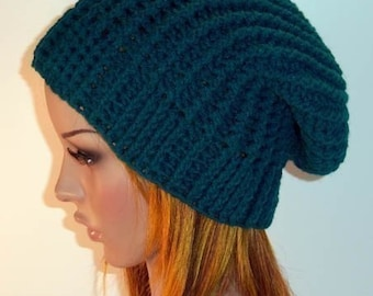 "Winter Slouch Hat """"""P A T T E R N"""""""