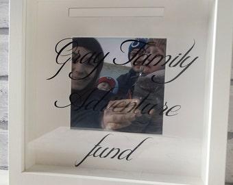 Personalised Box frame/money box