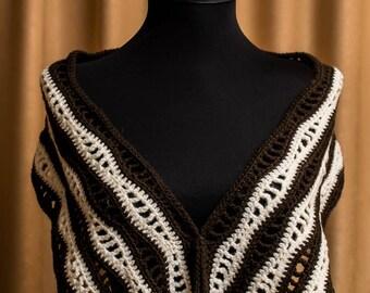 Easy Crochet Scarf Pattern, Crochet Shawl, Crochet Shawlette Pattern, Crochet Shawl PATTERN, Instant Download /1007/