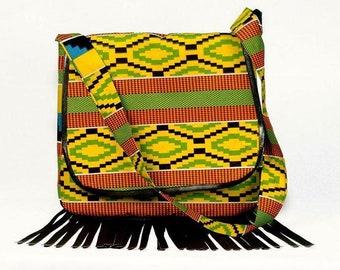 Sling bag.Simple bag.Casual bag.Crossbody tassel bag.Every day bag.Tribal print bag.Tassel crossbody bag.Crossbody pattern.Every day bag.