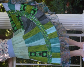 Gypsy Belly Dance Skirt, Ethnic Tribal Hippie Skirt, Bohemian Patchwork Festival Skirt, Handmade Eco Clothing, Plus Size Boho Maxi Skirt