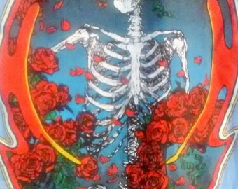 RARE!! Grateful Dead T Shirt Kelley/Mouse~ Skull & Roses Artwork! Authentic Vintage 80!The Grateful Dead~Oct.3 '80 Radio City Music Hall NYC