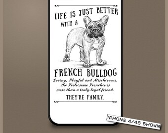 French Bulldog dog phone case cover iPhone Samsung ~ Can be Personalised