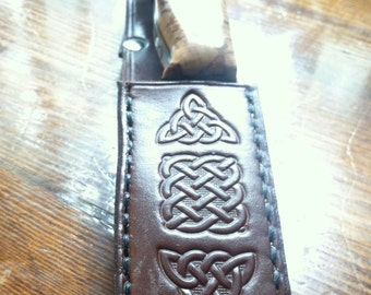 Custom leather knife sheath