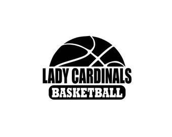 Lady Cardinals svg, Cardinals basketball svg, Basketball svg, SVG, DXF, EPS, Silhouette Studio, Cut Files, Digital Cut Files, Cricut