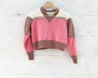 80s Cropped Glam Sweater
