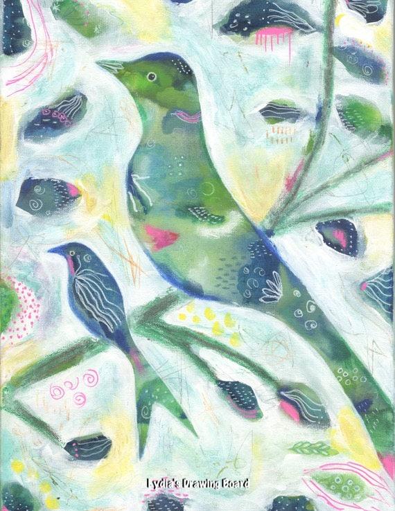 Bird, Birds, Bird Art, Nature Art Print, Bird Art Print, Bird Artwork, Bird Wall Art, Bird Decor, Whimsical Art, Nature Art, Nature Artwork