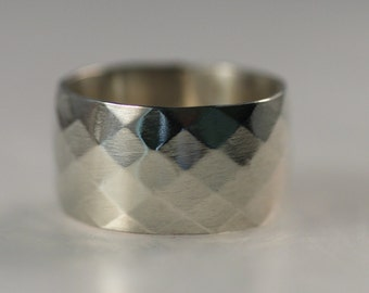 Pattered Sterling Silver Band