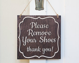 Remove Your Shoes Sign | Please Remove Your Shoes | Remove Your Shoes door Sign | Please remove your shoes thank you
