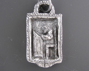 St. Luke: Patron of Physicians and Medical Students; Handmade Medal/Pendant