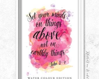 INSTANT DOWNLOAD - Bible Verse Wall Art - Scripture Print - DIY Printable - Christian Print